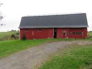 Barn re roof with Black roofing_Bloomfield, NY
