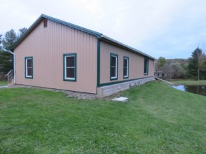 House resided with Saddle Tan steel siding and Ivy Green trim_Springwater, NY