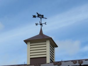 30x30 cupola_Antique auto weather vane