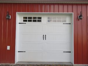 Stamped Carriage House overhead door by CHI