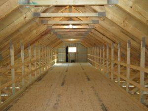 Pole building attic