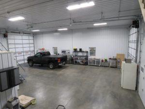 45x48 pole barn finished interior_Springwater, NY