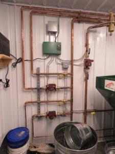 Pole barn heating system