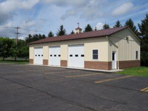 30x56x12_Brown roofing_Ivory siding_Faux brick wainscot_Perinton, NY